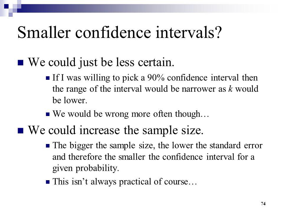 Smaller confidence intervals