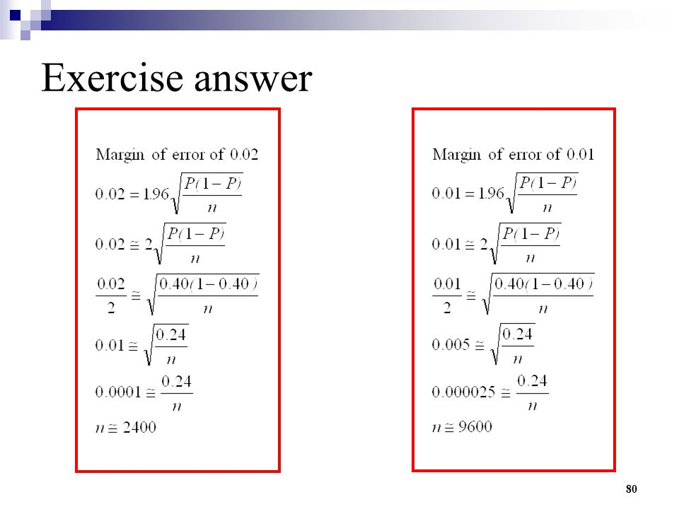 Exercise answer