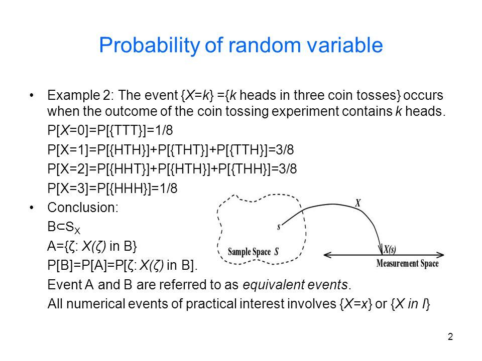 Probability of random variable