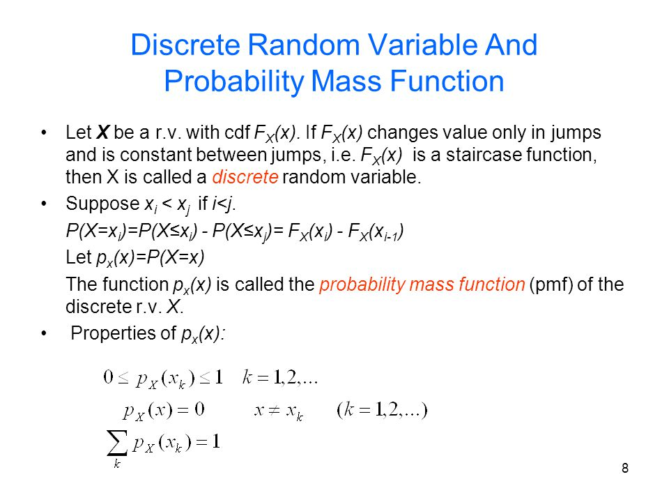 Discrete Random Variable And Probability Mass Function