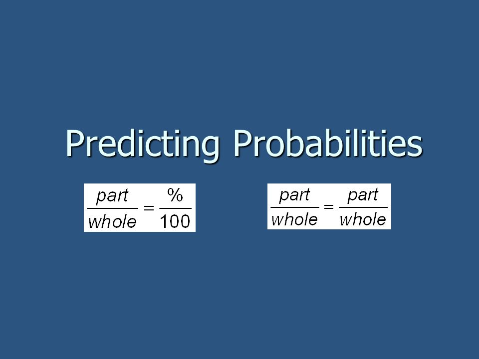 Predicting Probabilities