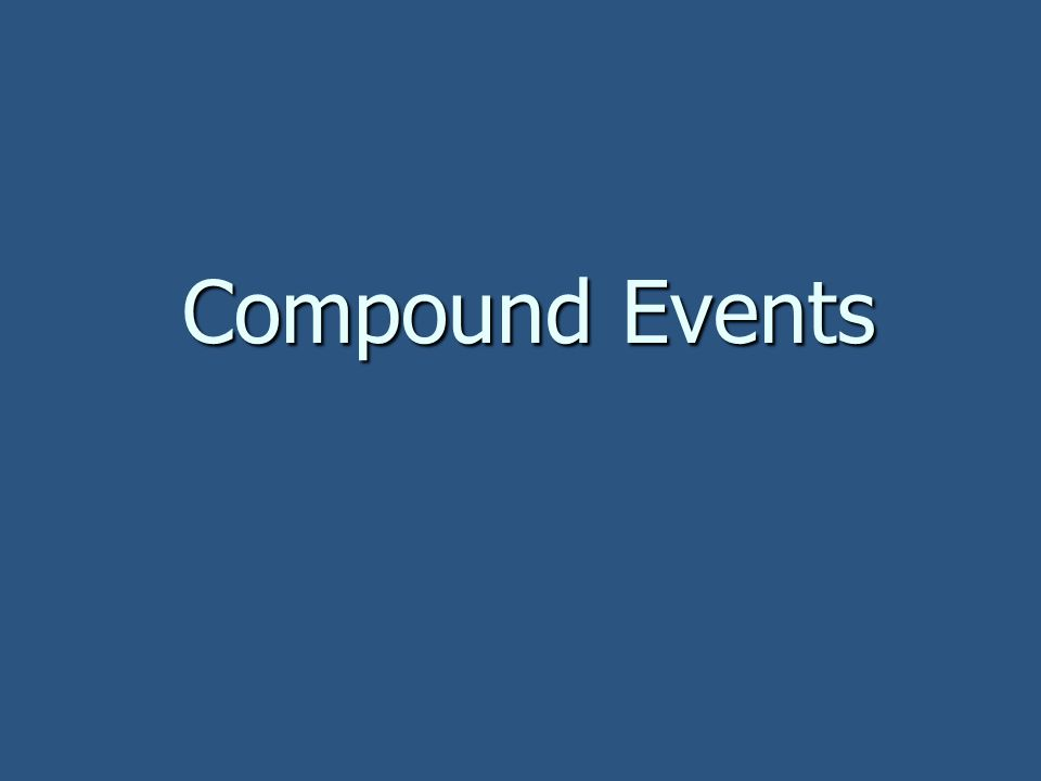 Compound Events 25