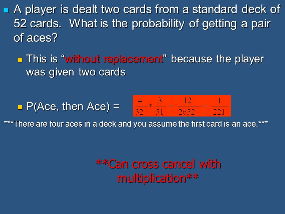 **Can cross cancel with multiplication**