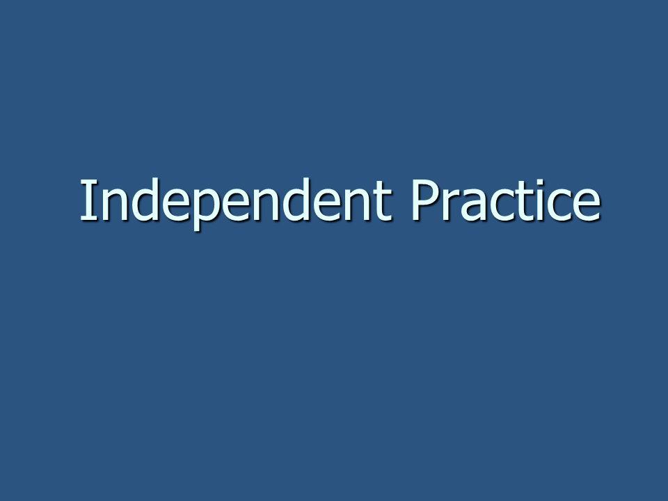 Independent Practice 9