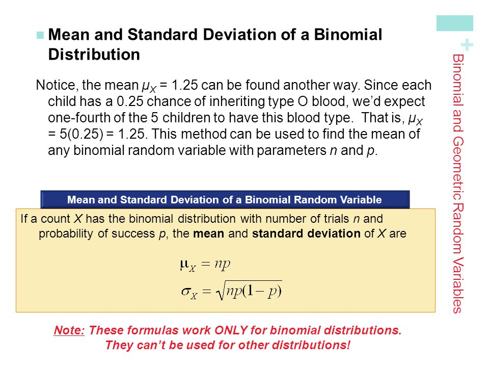 Binomial and Geometric Random Variables