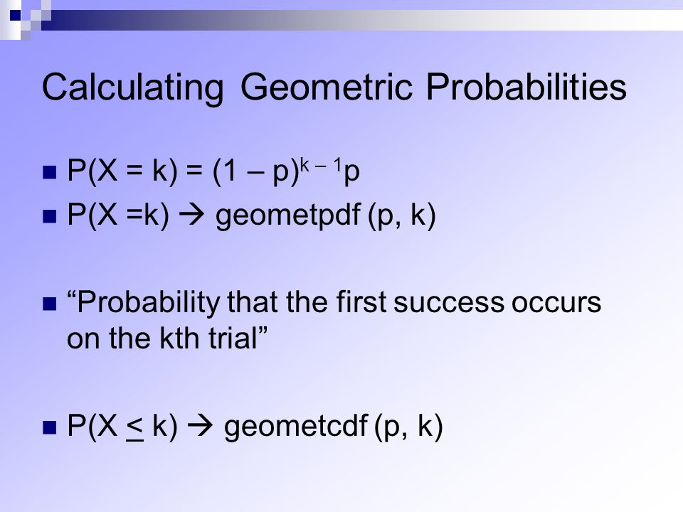 Calculating Geometric Probabilities