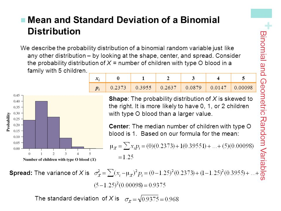 Binomial and Geometric Random Variables
