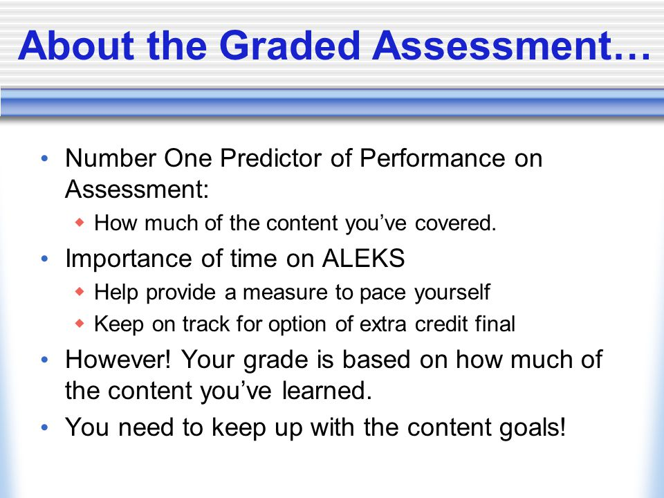 About the Graded Assessment…