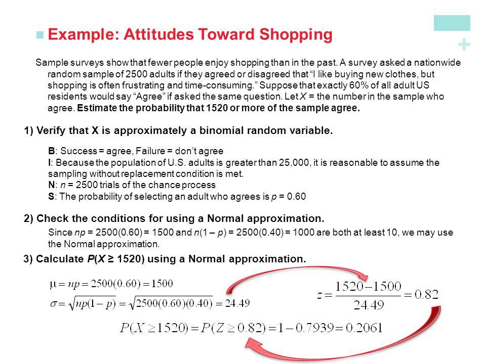 Example: Attitudes Toward Shopping