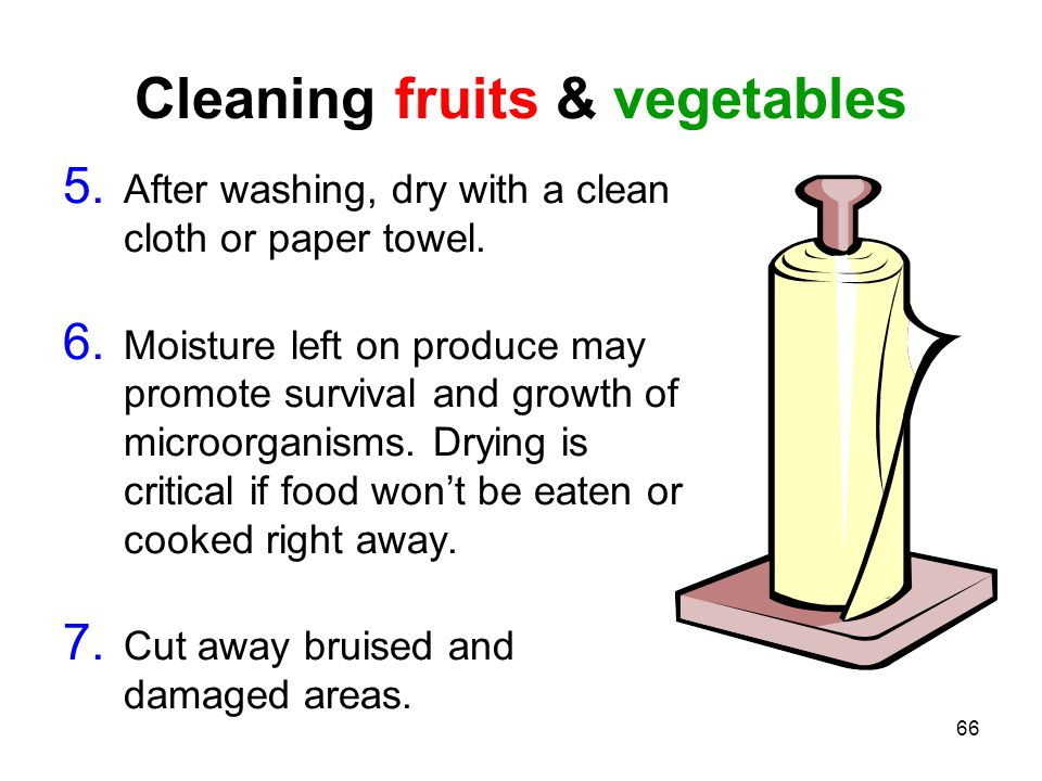 Cleaning fruits & vegetables
