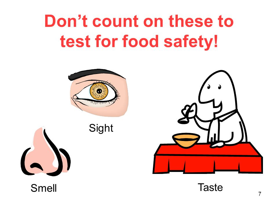 Don't count on these to test for food safety!