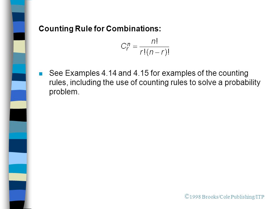 Counting Rule for Combinations: