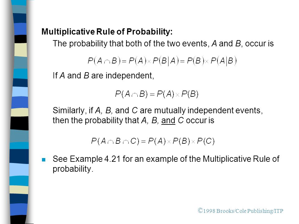 Multiplicative Rule of Probability:
