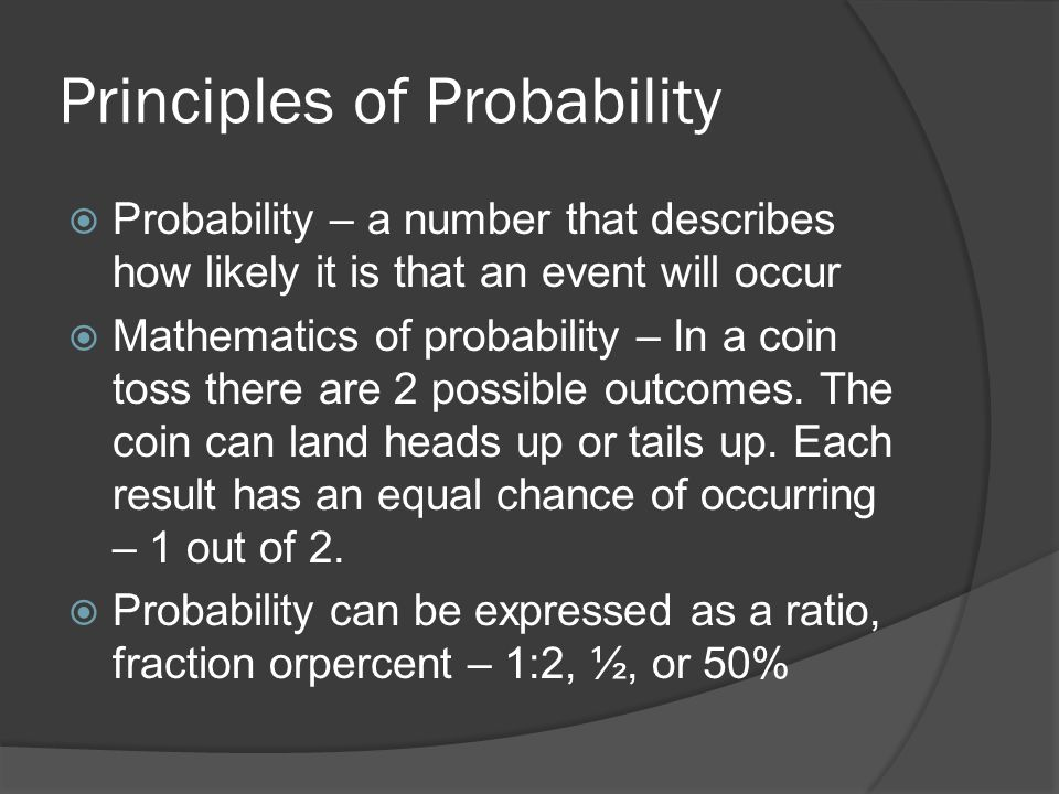 Principles of Probability