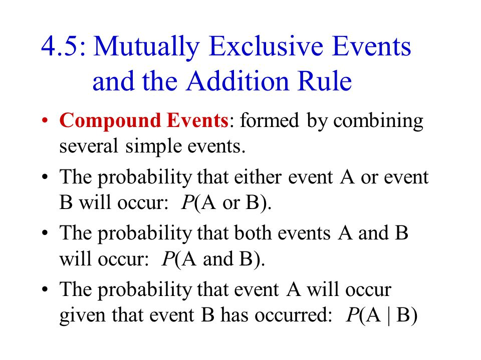 4.5: Mutually Exclusive Events and the Addition Rule