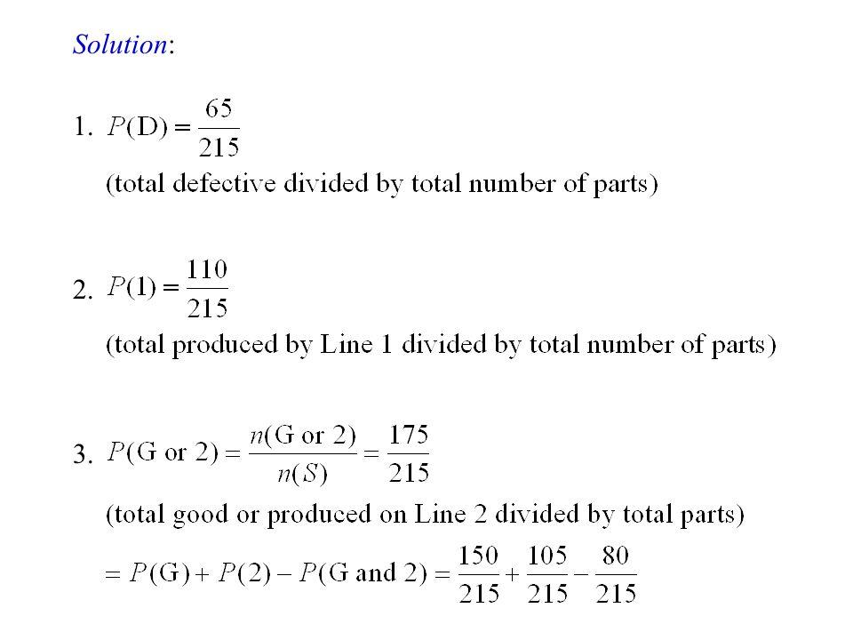 Solution: 1. 2. 3.