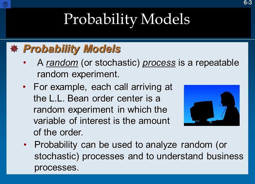 Probability Models Probability Models