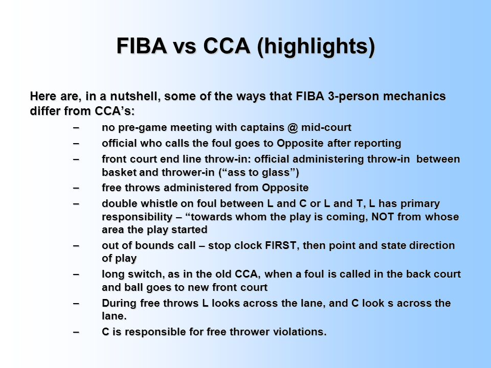 FIBA vs CCA (highlights)