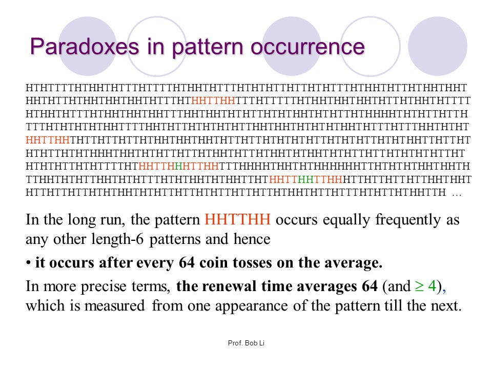 Paradoxes in pattern occurrence