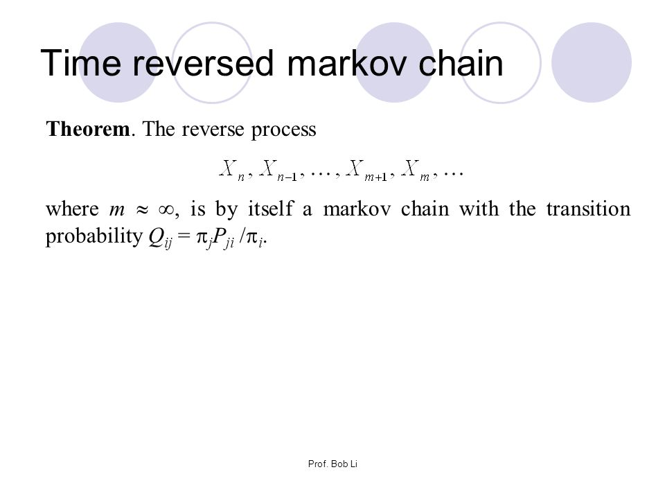 Time reversed markov chain