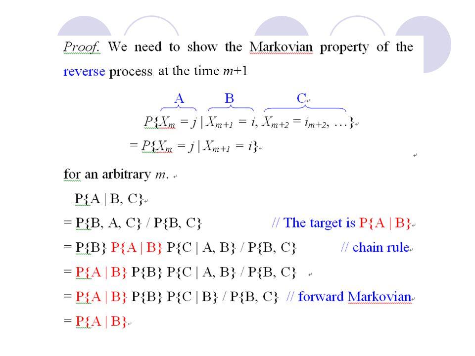 at the time m+1 B, A} Prof. Bob Li