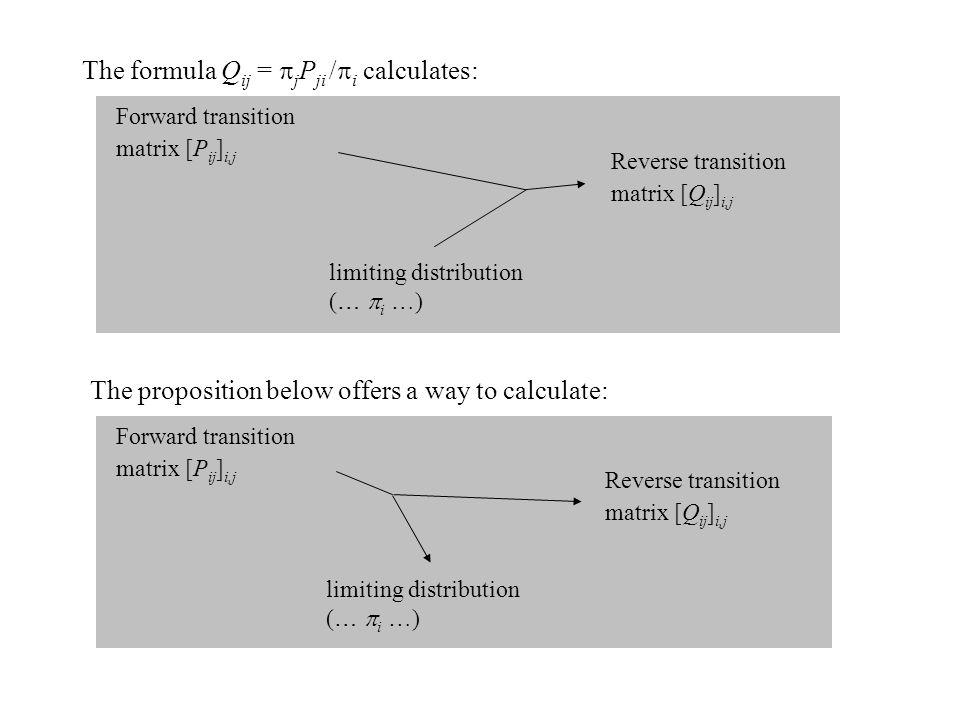 The formula Qij = jPji /i calculates: