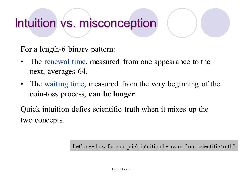 Intuition vs. misconception