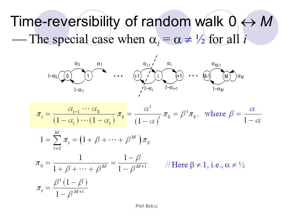 Time-reversibility of random walk 0  M