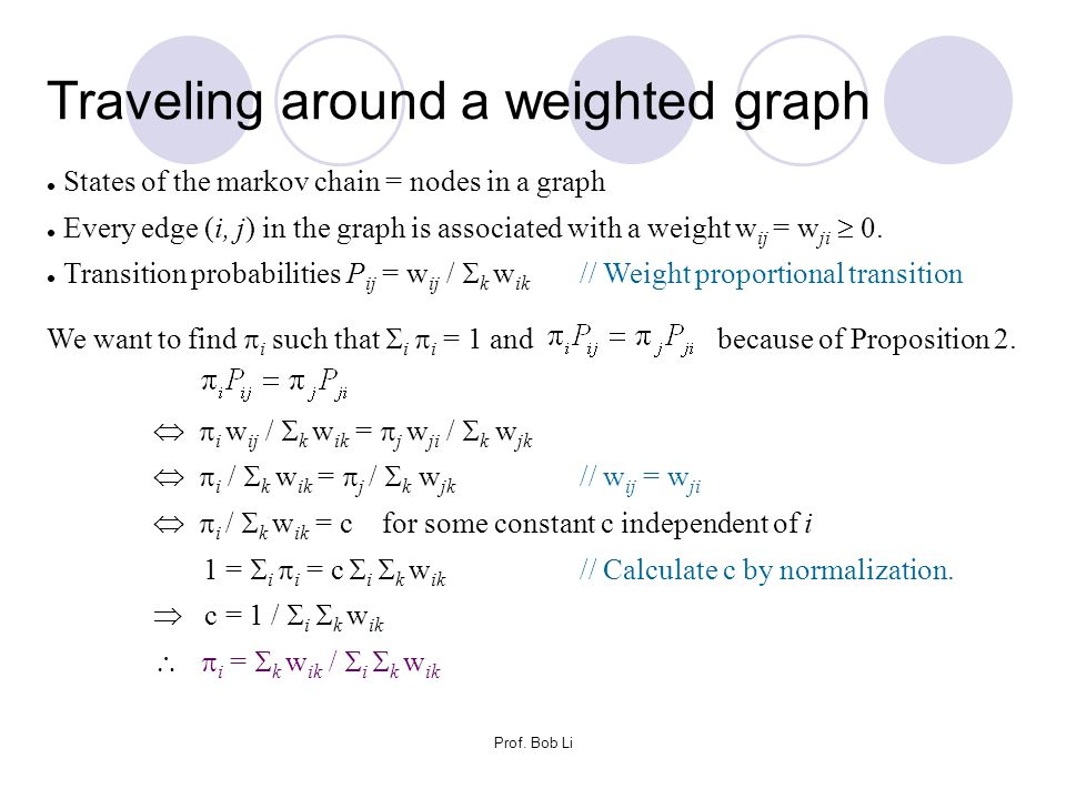 Traveling around a weighted graph