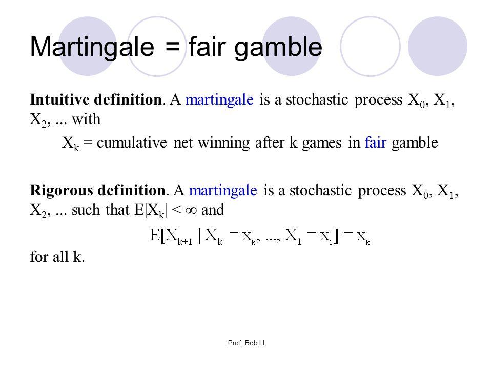 Martingale = fair gamble