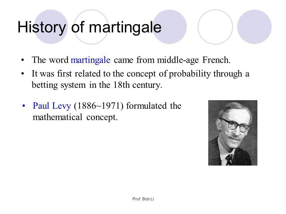 History of martingale The word martingale came from middle-age French.