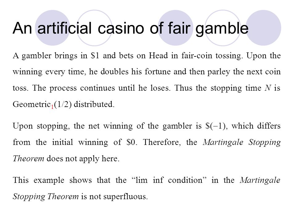 An artificial casino of fair gamble