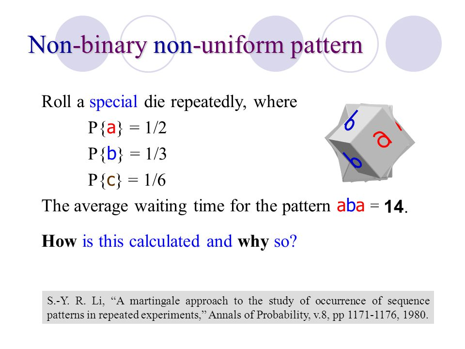 Non-binary non-uniform pattern