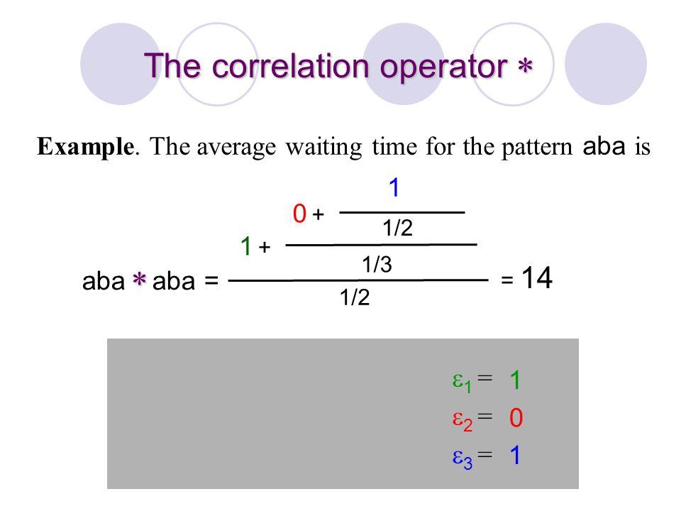 The correlation operator 