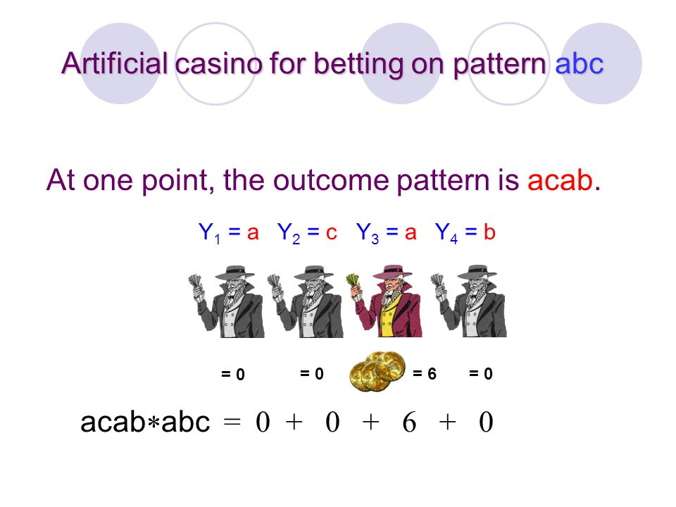 Artificial casino for betting on pattern abc