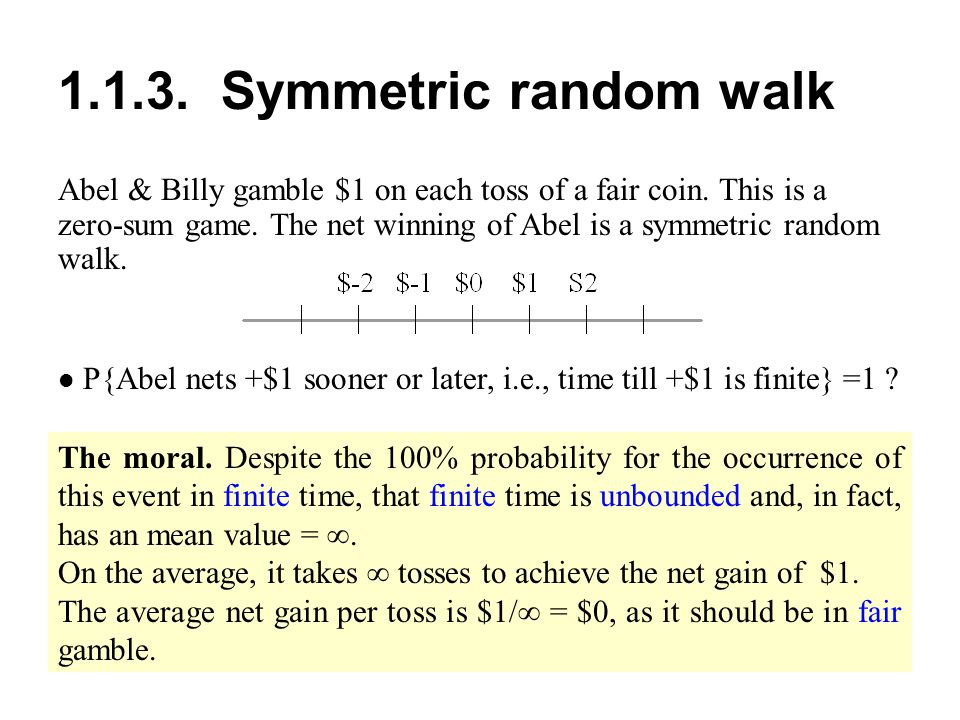 1.1.3. Symmetric random walk