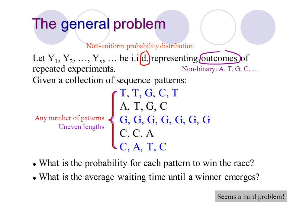 Non-uniform probability distribution