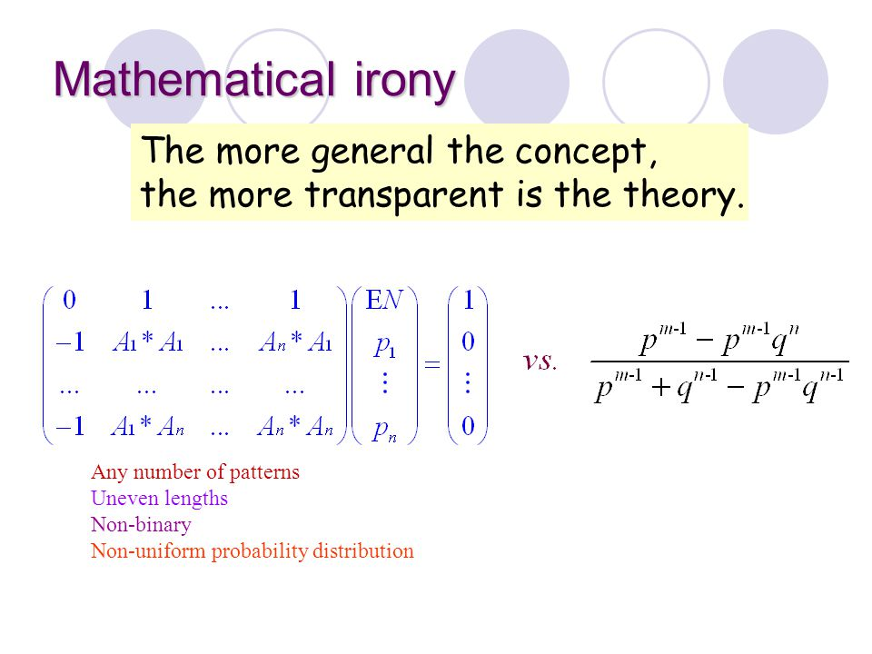 Mathematical irony The more general the concept,