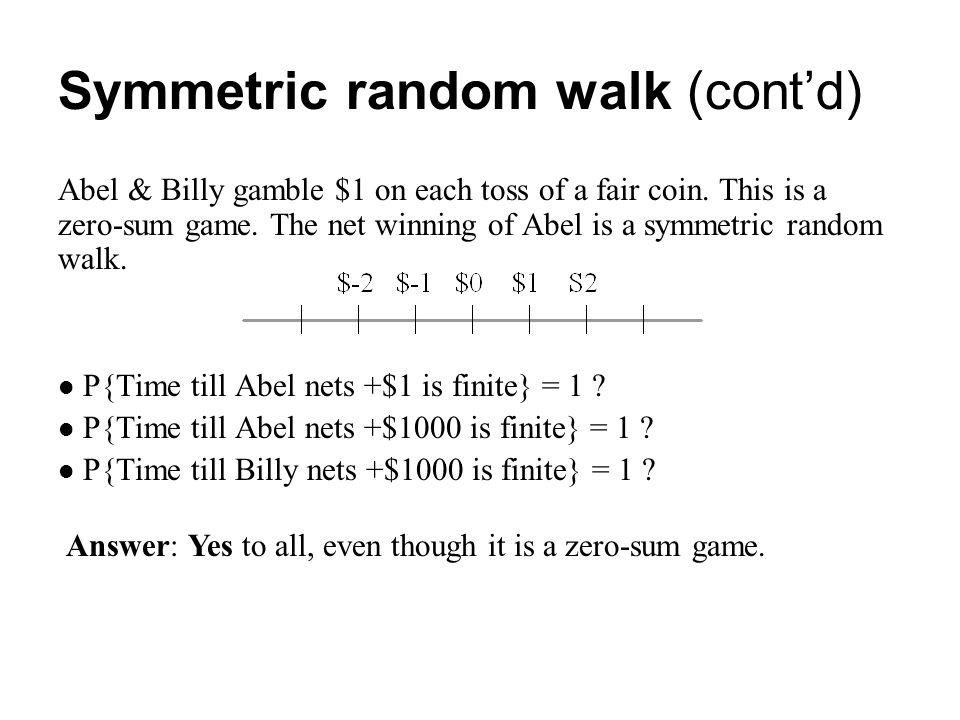 Symmetric random walk (cont'd)