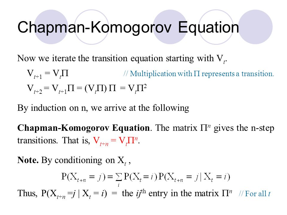 Chapman-Komogorov Equation