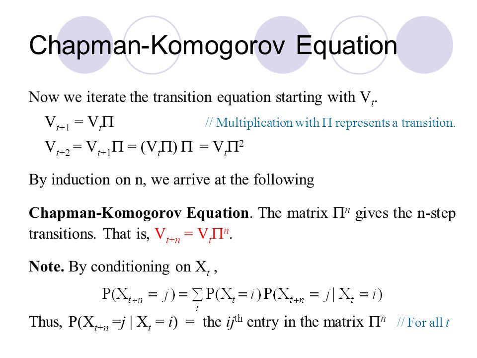 Chapman-Komogorov Equation