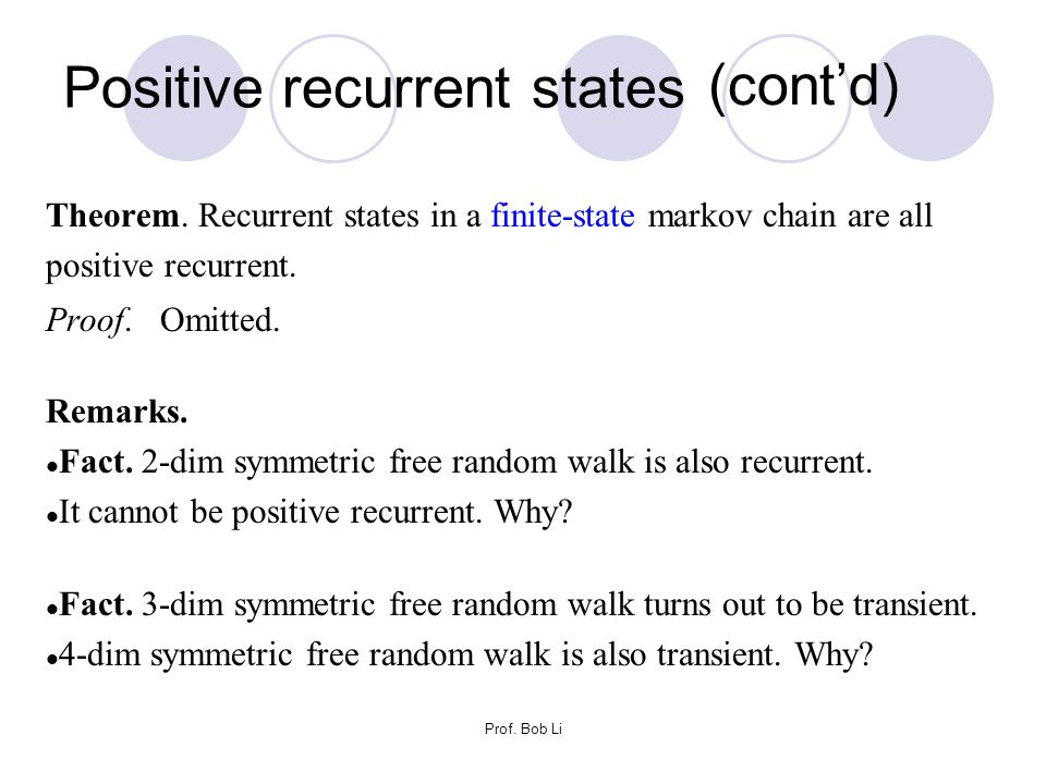 Positive recurrent states