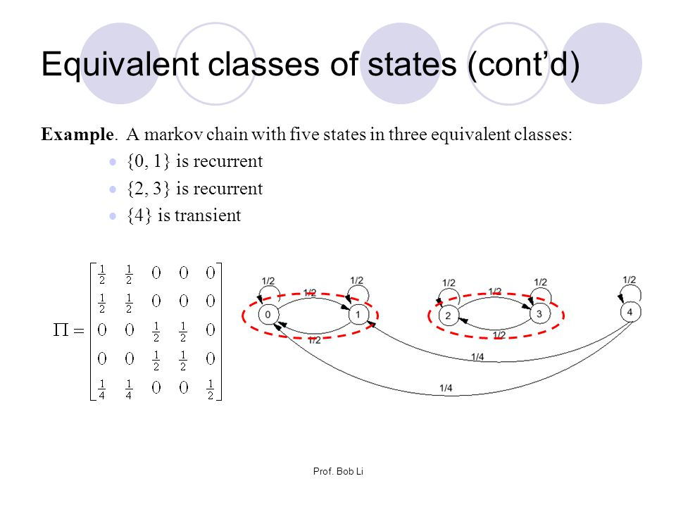 Equivalent classes of states (cont'd)