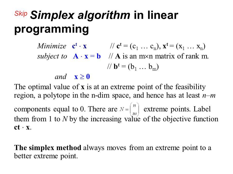 Skip Simplex algorithm in linear programming