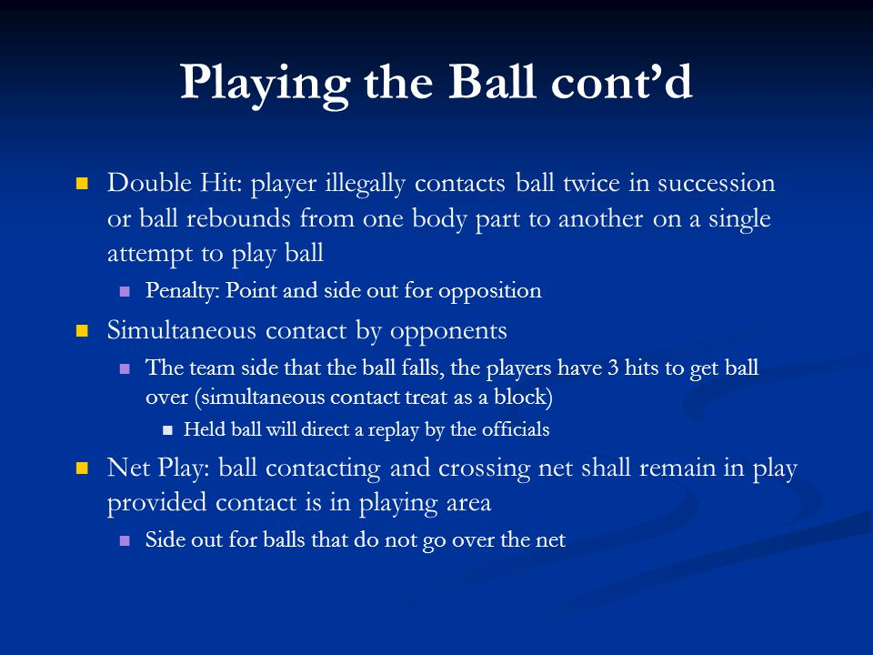 Playing the Ball cont'd
