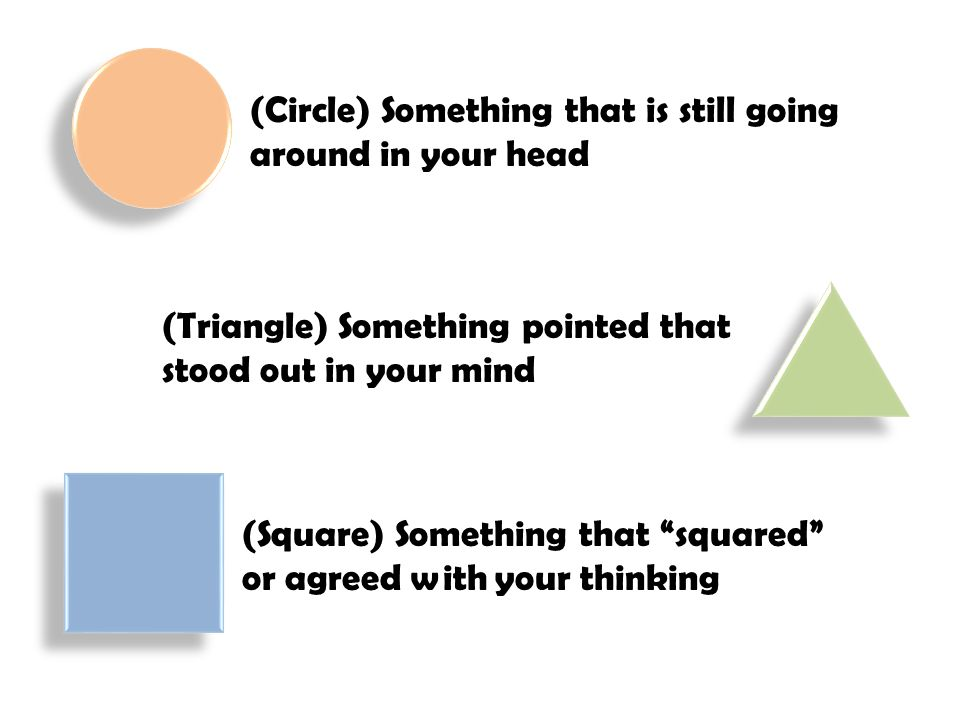 (Circle) Something that is still going around in your head