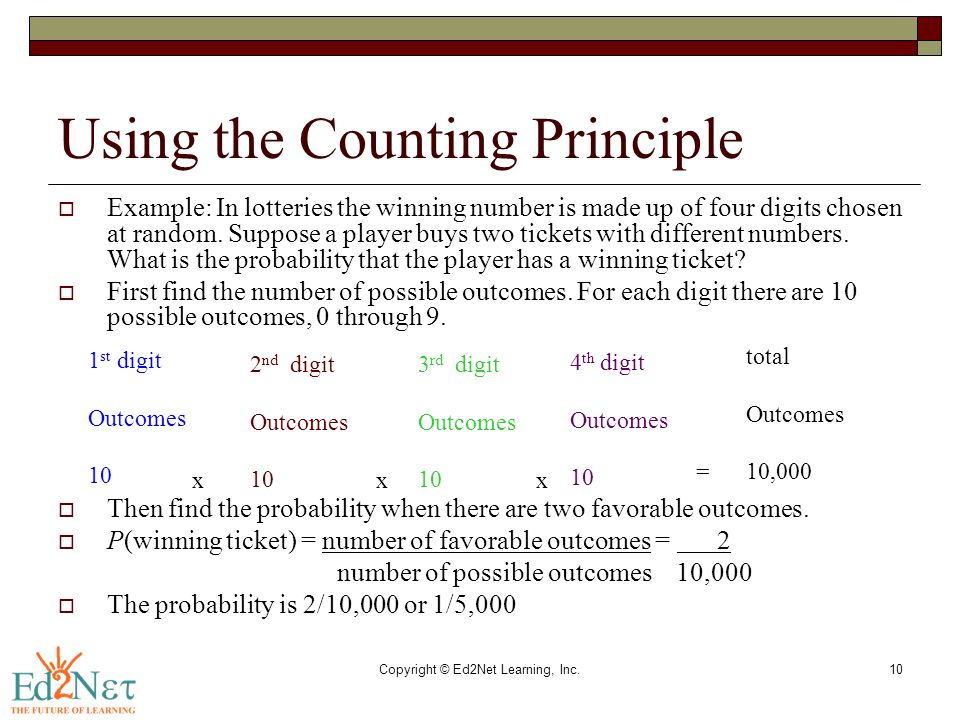 Using the Counting Principle