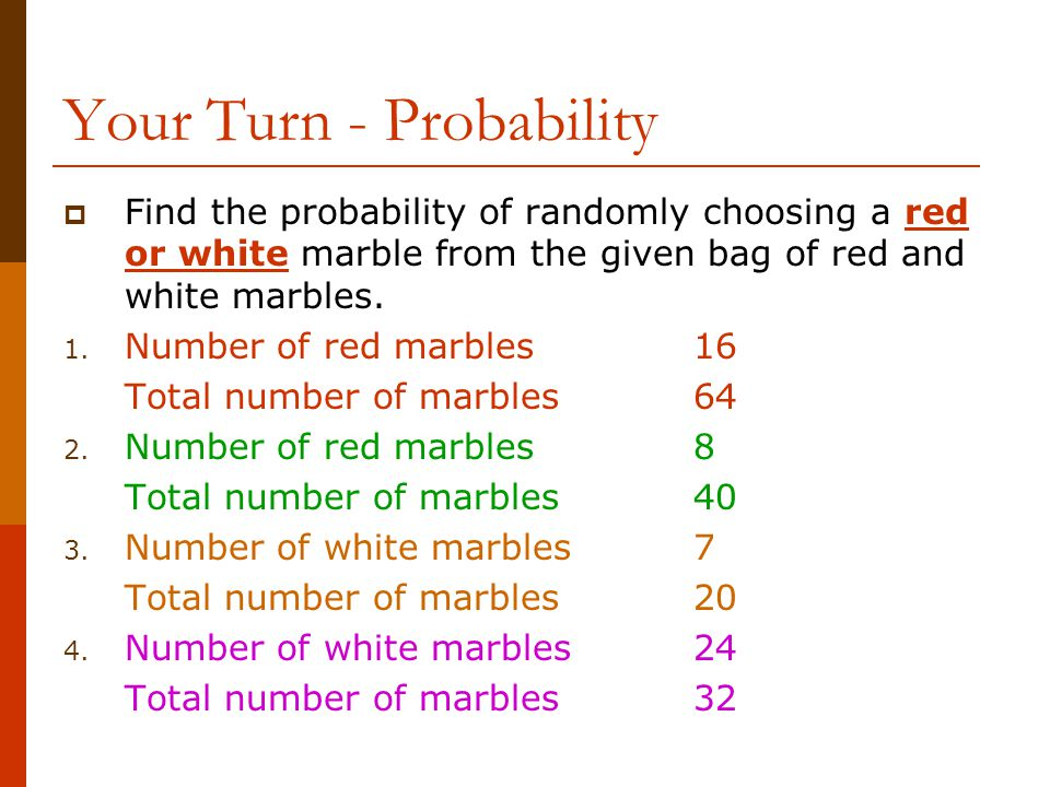 Your Turn - Probability