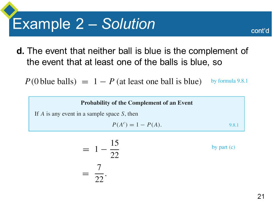 Example 2 – Solution cont'd. d.