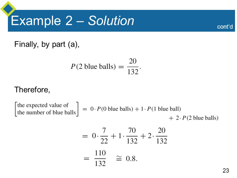 Example 2 – Solution cont'd Finally, by part (a), Therefore,